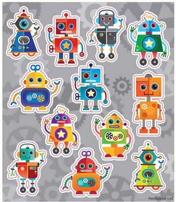 Robotter Fun Stickers