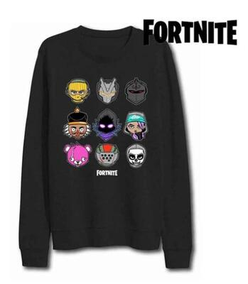Fortnite Tøj - Sort Bluse med motiver