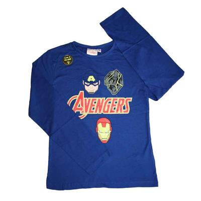 Avengers T-shirt i blå med Glow in the Dark