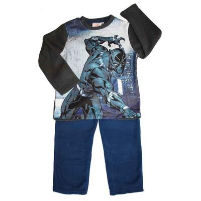 Avengers Pyjamas Fleece Black Panther Blå