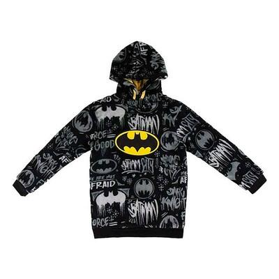 Batman Fleece Hoodie Sort