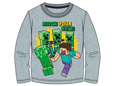 Minecraft T-Shirt Grå Watch Your Back