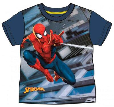 Spiderman kort T-shirt Navy