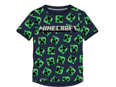 Minecraft T-Shirt  All-over Creeper Navy