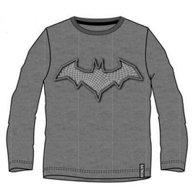 Batman LS T-shirt Grå med Applikation