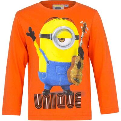 Minions LS T-shirt Orange Unique Musiker