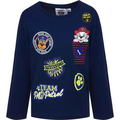 Paw Patrol Team Navy LS T-shirt