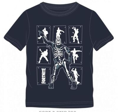 Fortnite Skeleton Kort T-shirt Navy