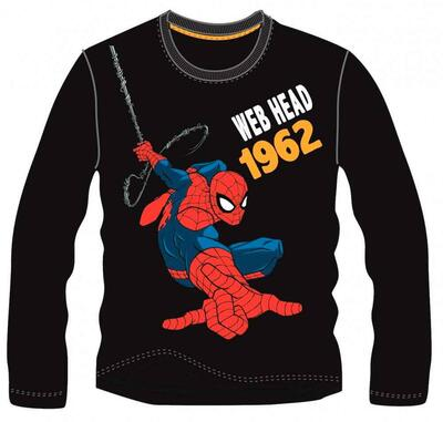Spiderman LS T-Shirt Sort Web Head