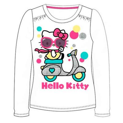 Hello Kitty T-shirt LS Hvid Scooter
