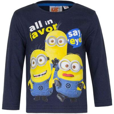 Minions LS T-shirt Navy All in Favor