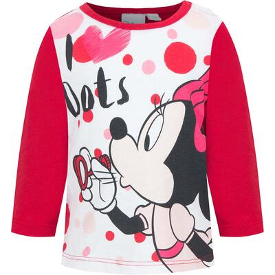 Minnie Mouse LS T-shirt Rød