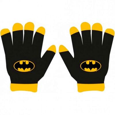 Batman Fingervanter Sort Bat-Logo