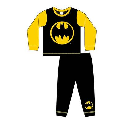 Batman Pyjamas Sort Gul med Bat-logo