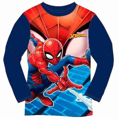 Spiderman Langærmet T-Shirt Blå