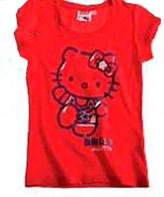 Hello Kitty t-shirt rød - LamaLoLi
