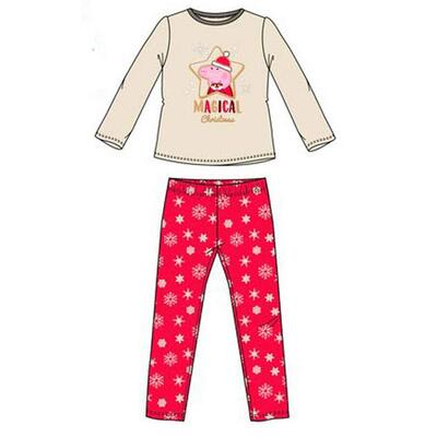 Gurli Gris Christmas Fleece Pyjamas Hvid