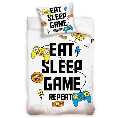 Eat Sleep Game Repeat Sengetøj 140x200