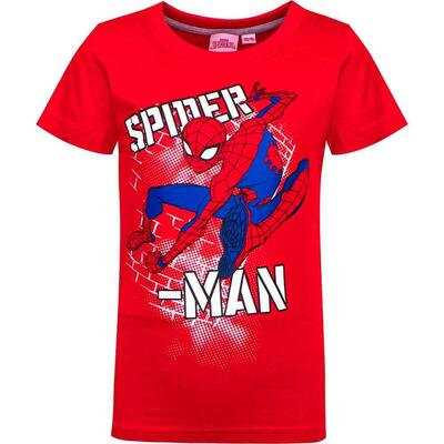 Marvel Spiderman Kort T-shirt Rød