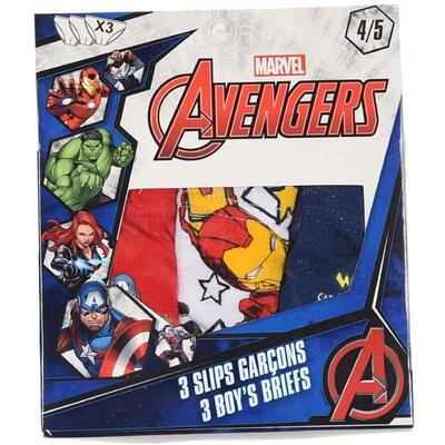 Marvel Avengers Briefs Hero 3-pak