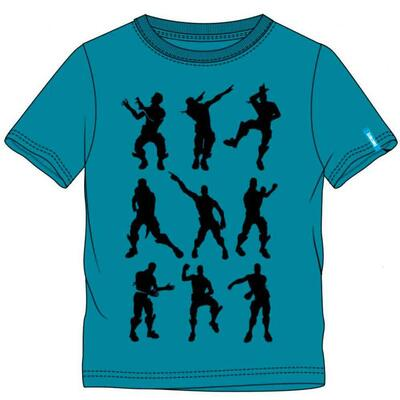 Fortnite Kort T-Shirt Dancing Emotes