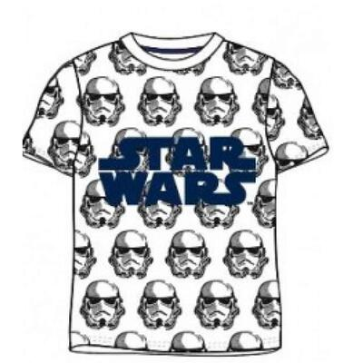 Star Wars Kort T-Shirt Hvid Storm Trooper