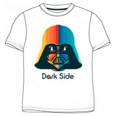 Star Wars Kort T-Shirt Hvid Dark Side