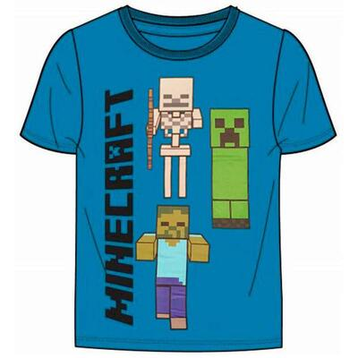 Minecraft Games Kort T-shirt Blå