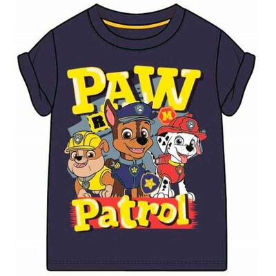 Paw Patrol Kort T-Shirt Navy Rescue Team