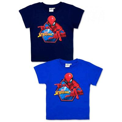 Spiderman Kort T-shirt Navy eller Blå