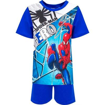 Spiderman Sommer Pyjamas Blå Hero