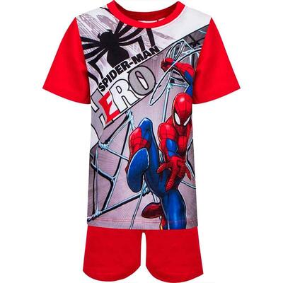 Spiderman Kort Pyjamas Rød Hero