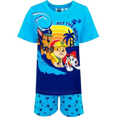Paw Patrol Kort Pyjamas Hit the Waves