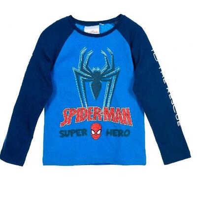 Spiderman T-Shirt Blå Super Hero