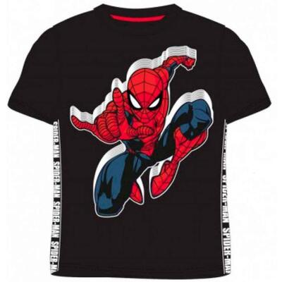 Marvel Spiderman T-Shirt Kort Sort