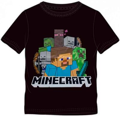 Minecraft Kort T-Shirt Sort