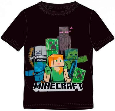 Minecraft Kortærmet T-Shirt Sort