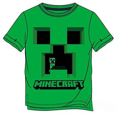 Minecraft Kortærmet T-Shirt Grøn Creeper