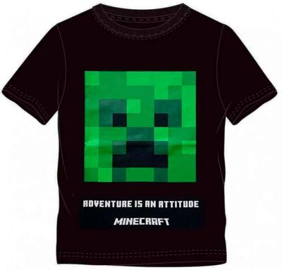 Minecraft T-Shirt Kort Sort Attitude