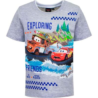 Disney Cars T-Shirt Kort Exploring Grå