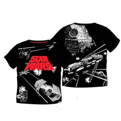 Star Wars Kort T-Shirt Galaxy Sort
