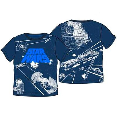 Star Wars T-Shirt Navy Galaxy