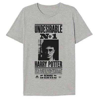 Harry Potter Kort T-Shirt Grå