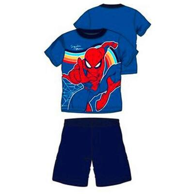 Spiderman Sommer Pyjamas Blå Navy