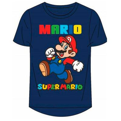 Super Mario Kort T-Shirt Navy