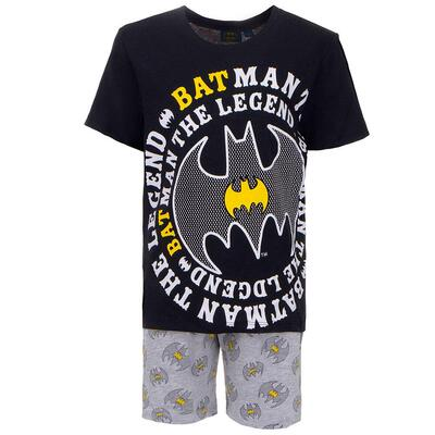 Batman Sommer Pyjamas Sort Grå
