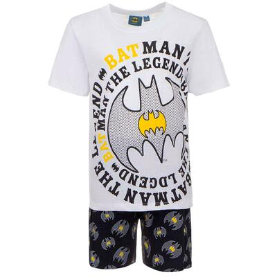 Batman Kort Pyjamas Hvid The Legend