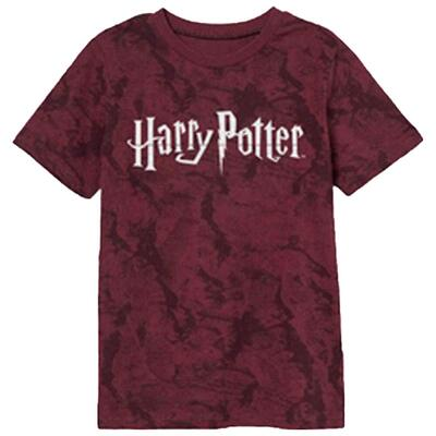 Harry Potter Kortærmet T-Shirt Rød Sort