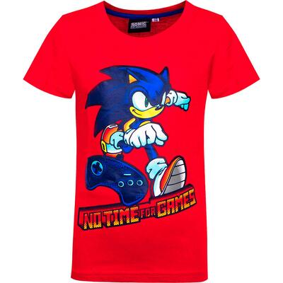 Sonic Kort T-Shirt The Hedgehog