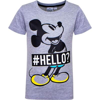 Mickey Mouse Kort T-Shirt Hello Grå
